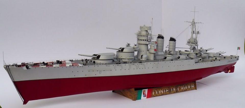 Navi Modello della Nave da Battaglia Conte di Cavour