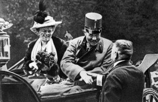 Grande Guerra degli Italiani Francesco Ferdinando e Consorte poco prima dell'attentato - 28 giugno 1914