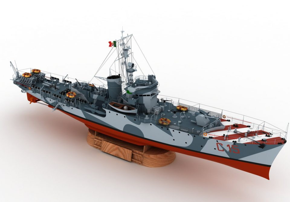 Navi Modello del Cacciatorpediniere Gabbiano