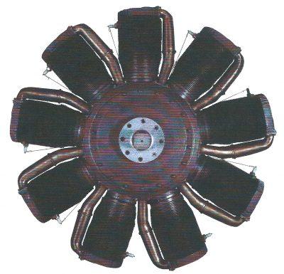 Le Rhône M 9-cil. motore a pistone rotante