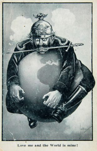 Grande Guerra degli Italiani Poster - The world is mine - 1914