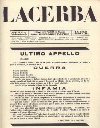 Lacerba - 11 maggio 1915