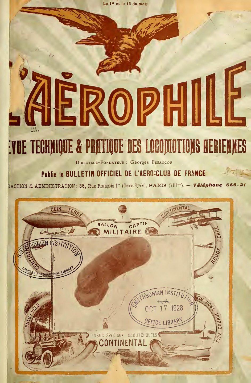 L'Aérophile du 1 Janvier 1910