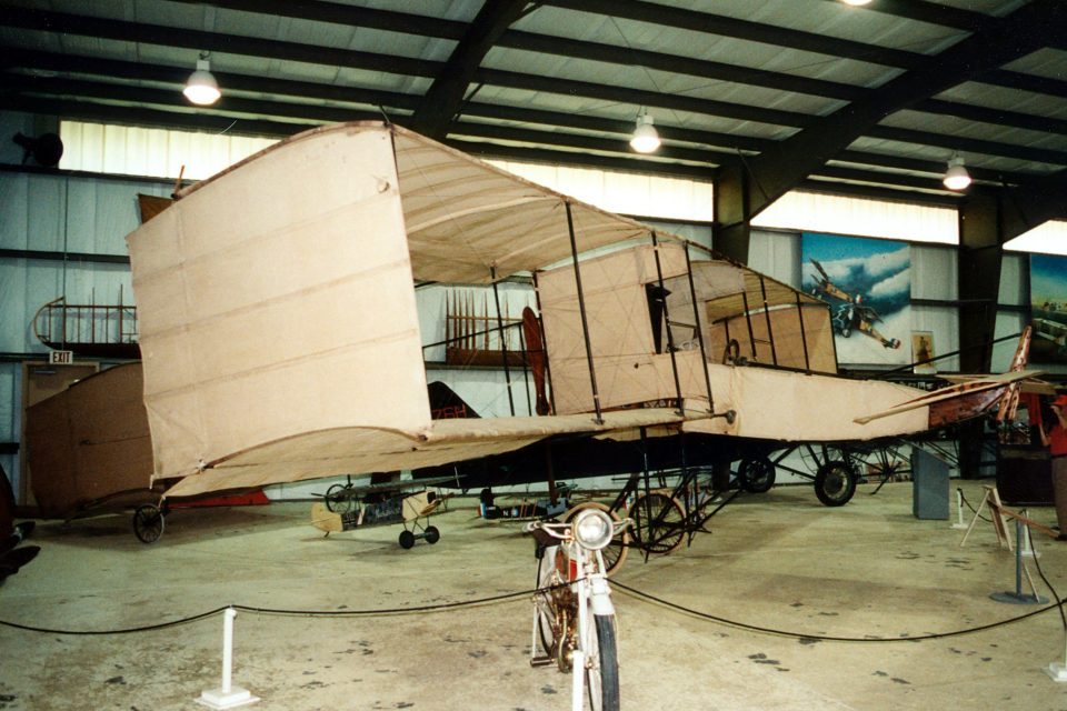 Voisin (N38933, s/n 1, original) - 1908 - Old Rhinebeck Aerodrome, Rhinebeck, New York (photo © 1998 Skytamer Images by John Shupek)