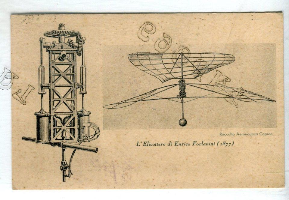 Disegni dell'Elicottero di Enrico Forlanini - Raccolta Aeronautica Caproni