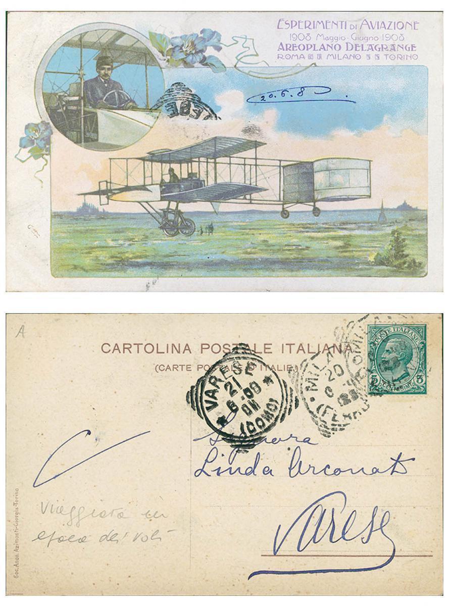 Cartolina Postale Delagrange Milano