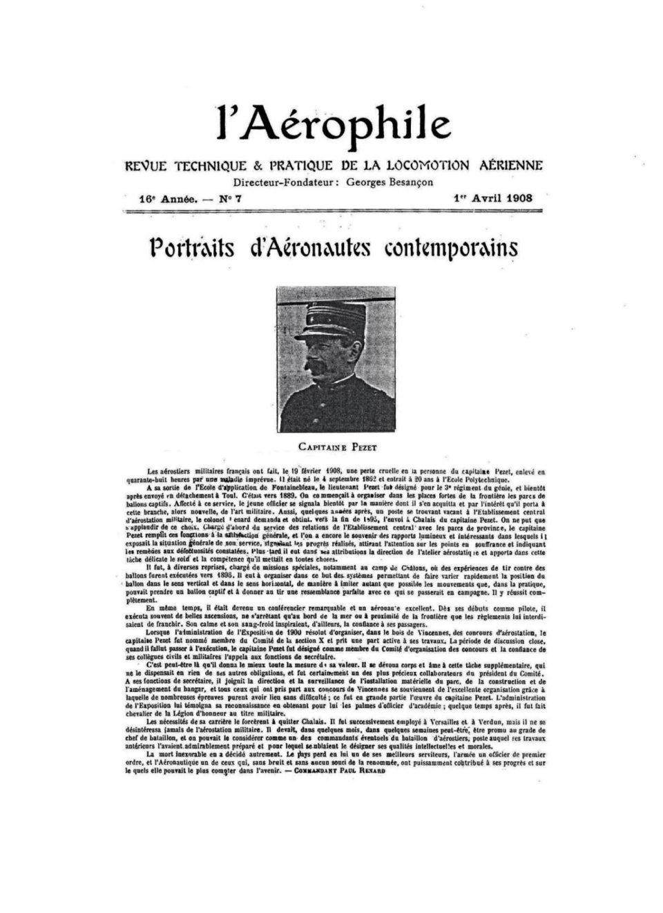 L'Aérophile - 1 Aprile 1908 - Pag.1