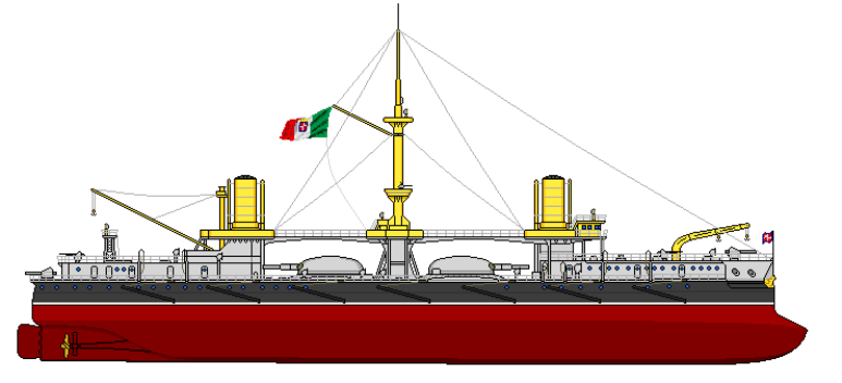 Nave da Battaglia Andrea Doria - 1915