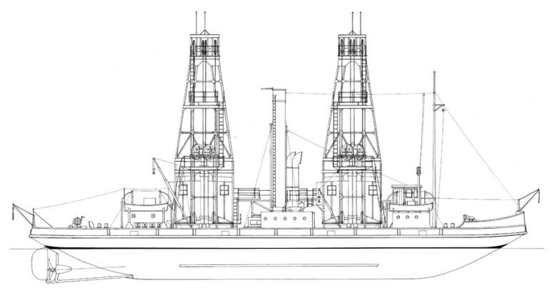 Nave appoggio e recupero sommergibili Anteo - 1915