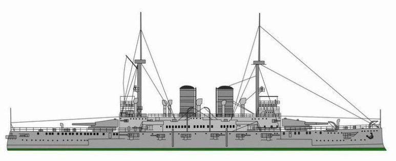Nave da Battaglia Benedetto Brin - 1915