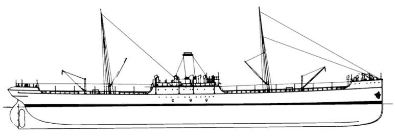 Nave cisterna carbone e nafta Bronte - 1915