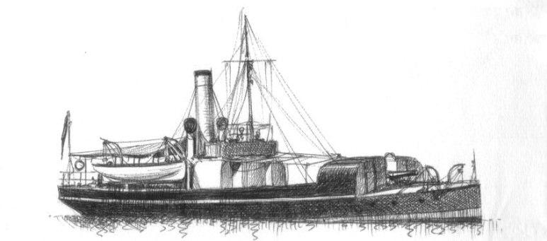 Unità per esperienze sui siluri Castore - 1915