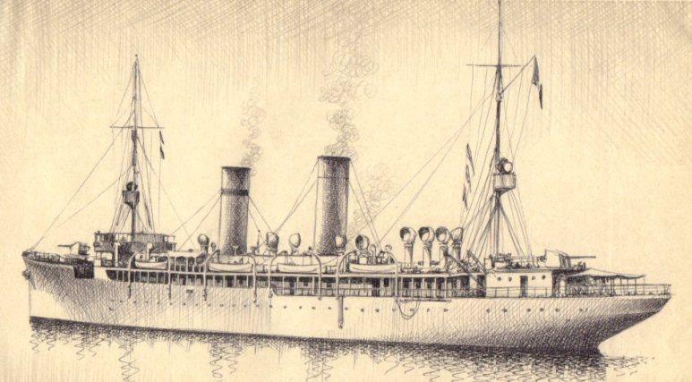 Incrociatore Ausiliario Città di Messina - 1915