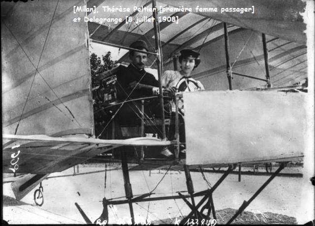 Leon Delagrange con Thérèse Peltier Torino 8 luglio 1908