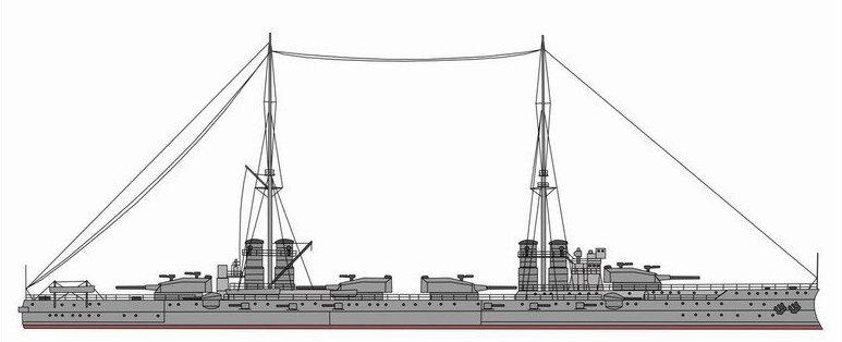 Nave da battaglia Dante Alighieri - 1915