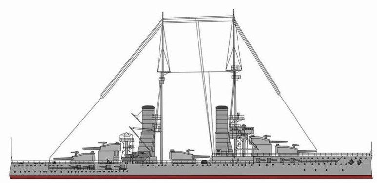 Nave da Battaglia Caio Duilio - 1915