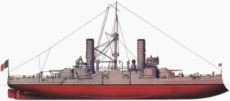 Nave da Battaglia Emanuele Filiberto - 1915