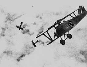 prima guerra mondiale Francesco Baracca in azione 1917