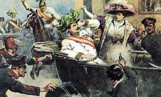 prima guerra mondiale Gavrilo Princip uccide Francesco Ferdinando e la moglie Sofia duchessa di Hohenberg a Sarajevo il 28 giugno 1914