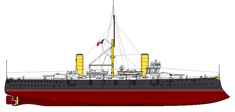 Incrociatore Corazzato Giuseppe Garibaldi - 1915