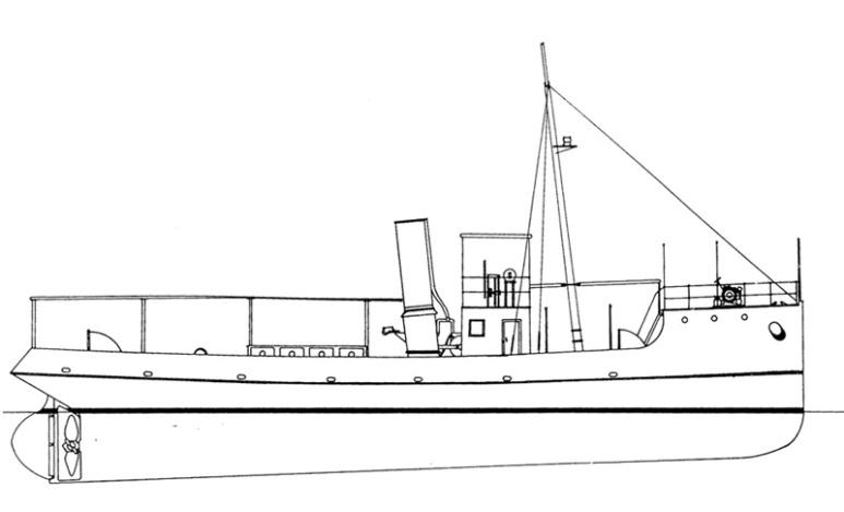 Rimorchiatore Costiero Ventotene - 1915