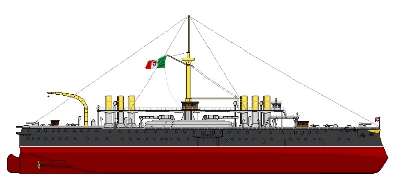 Nave da Battaglia Italia - 1915