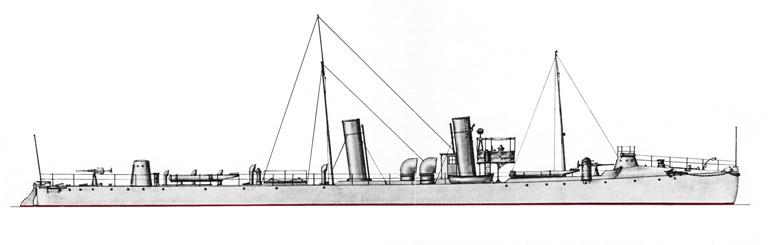 Torpediniere Pallade - 1915