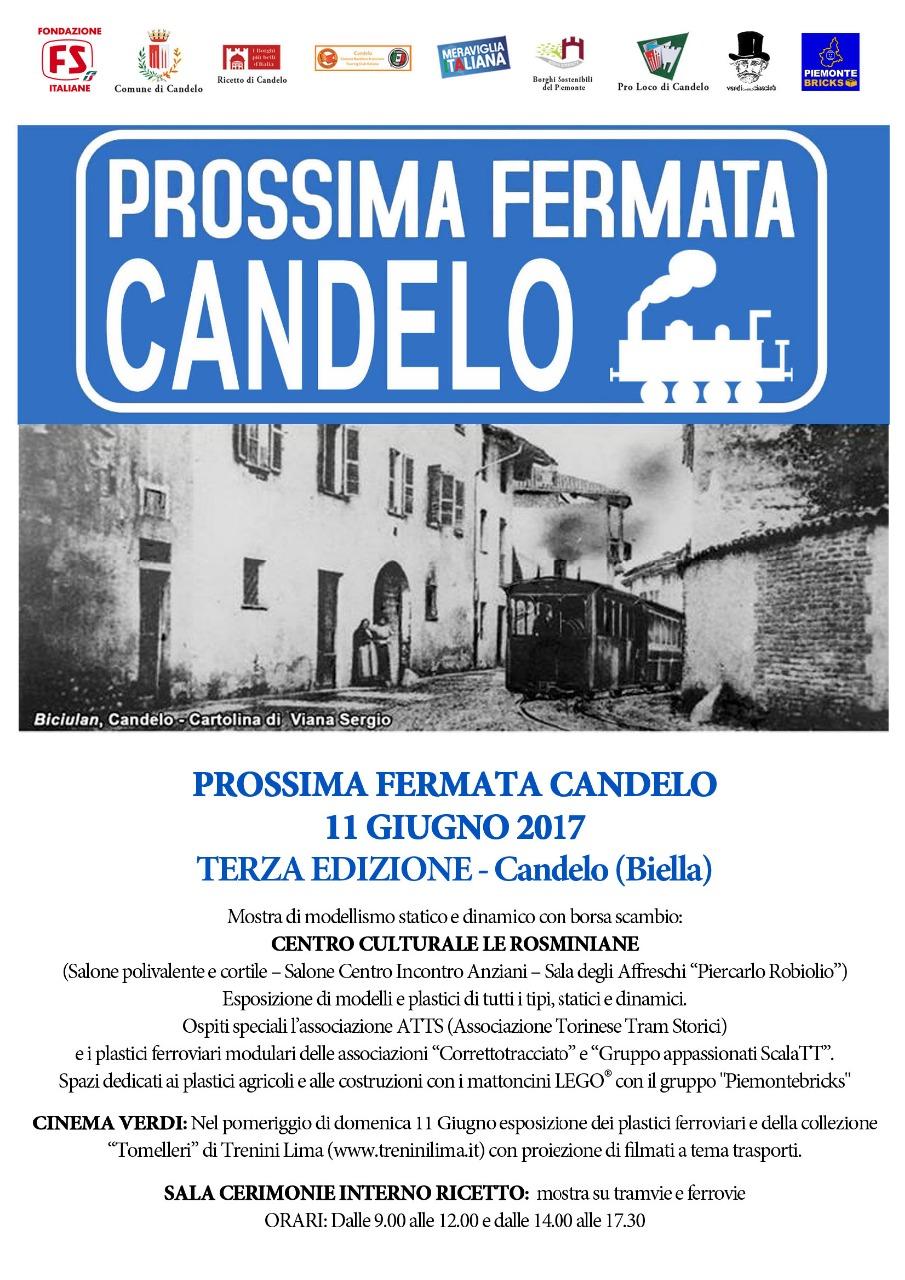 """Locandina """"Prossima Fermata Candelo"""" 2017 - 3^ Edizione"""