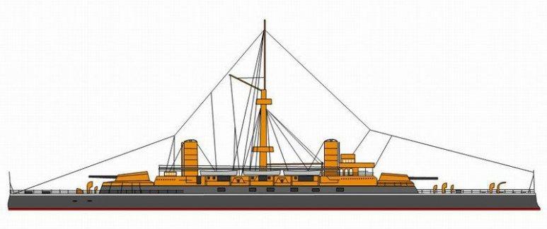 Nave da Battaglia Re Umberto - 1915