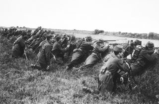 prima guerra mondiale Soldati francesi sul fronte della Marna 1914