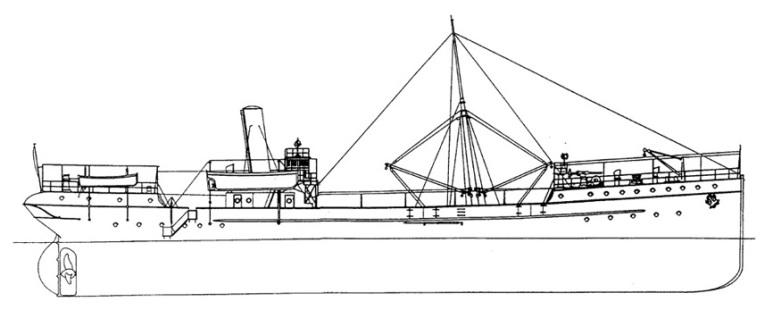 Nave Cisterna per Acqua Tevere - 1915