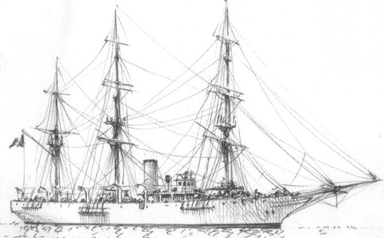 Nave Scuola Amerigo Vespucci - 1915