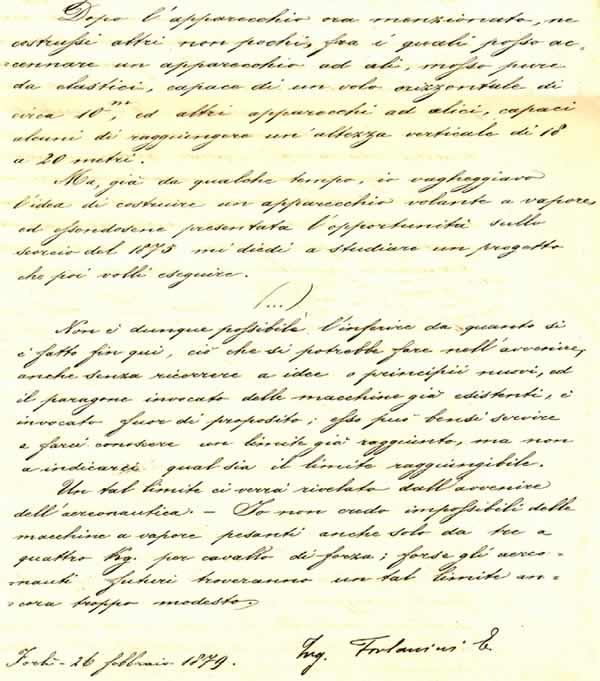 Diario di Enrico Forlanini - Pag.23