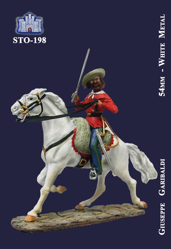 Giuseppe Garibaldi a Cavallo - La Fortezza - 54mm