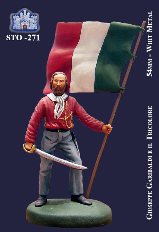 Giuseppe Garibaldi e il Tricolore - La Fortezza - 54mm