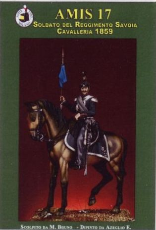 Scatola AMIS - Soldato del Reggimento di Cavalleria Savoia – 1859