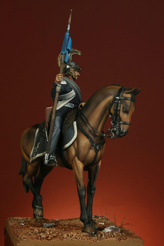 Vista tre quarti - Amis 17 - Soldato del Reggimento di Cavalleria Savoia – 1859