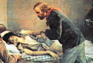 Anita Garibaldi - Sul letto di morte - Agosto 1849