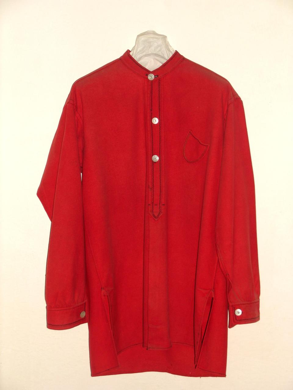 Camicia Rossa di Giuseppe Garibaldi (Fonte Compendio Garibaldino)