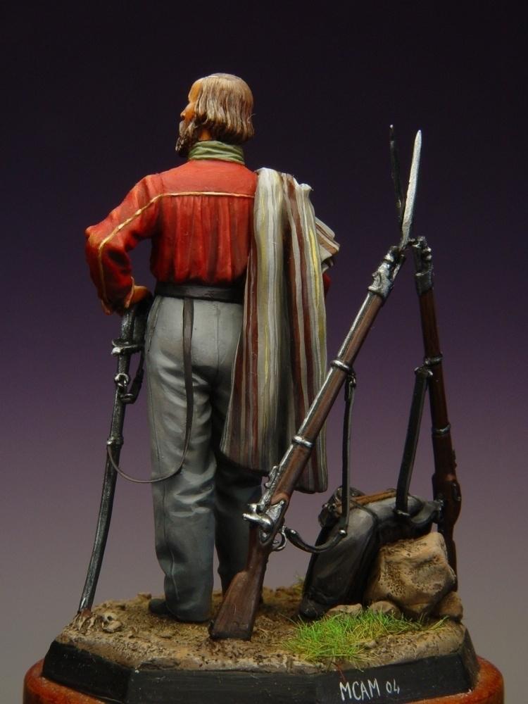 Giuseppe Garibaldi Regno d'Italia - 1860 - Masterclass - 54mm - EFDV5408 - Vista retro (Fonte Masterclass) - Pittura di Marco Campomagnani