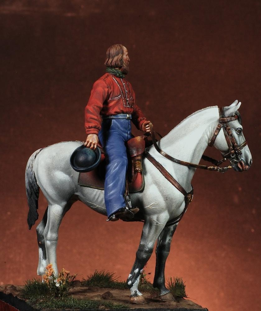 Giuseppe Garibaldi - Masterclass - 54mm - EFPM5401 - Vista laterale destra (Fonte Masterclass) - Pittura di G. Azzarà