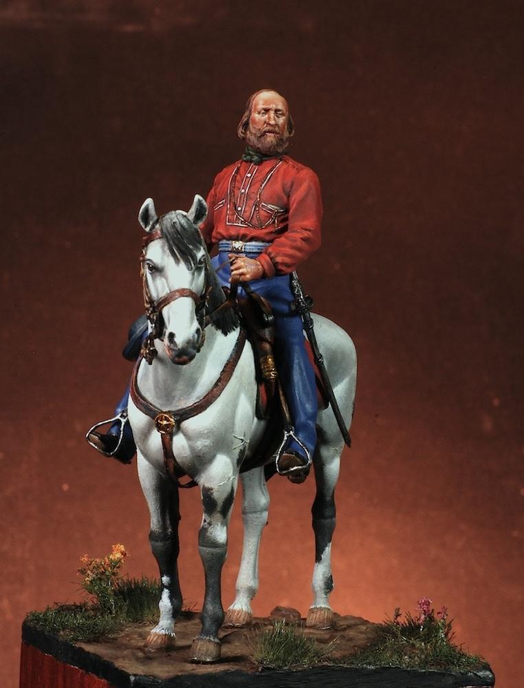 Giuseppe Garibaldi - Masterclass - 54mm - EFPM5401 - Vista frontale (Fonte Masterclass) - Pittura di G. Azzarà