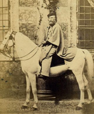 Garibaldi a cavallo - Foto di Alessandro Duroni - Cremona 8 aprile 1862