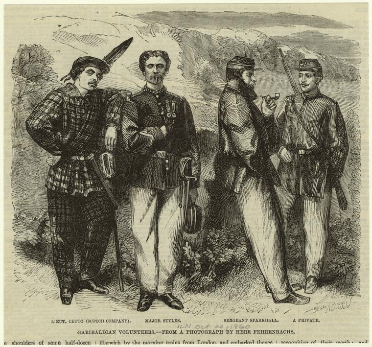 Garibaldian english volunteers - 1860