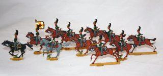 Soldatini piatti della Hilpert di Norimberga