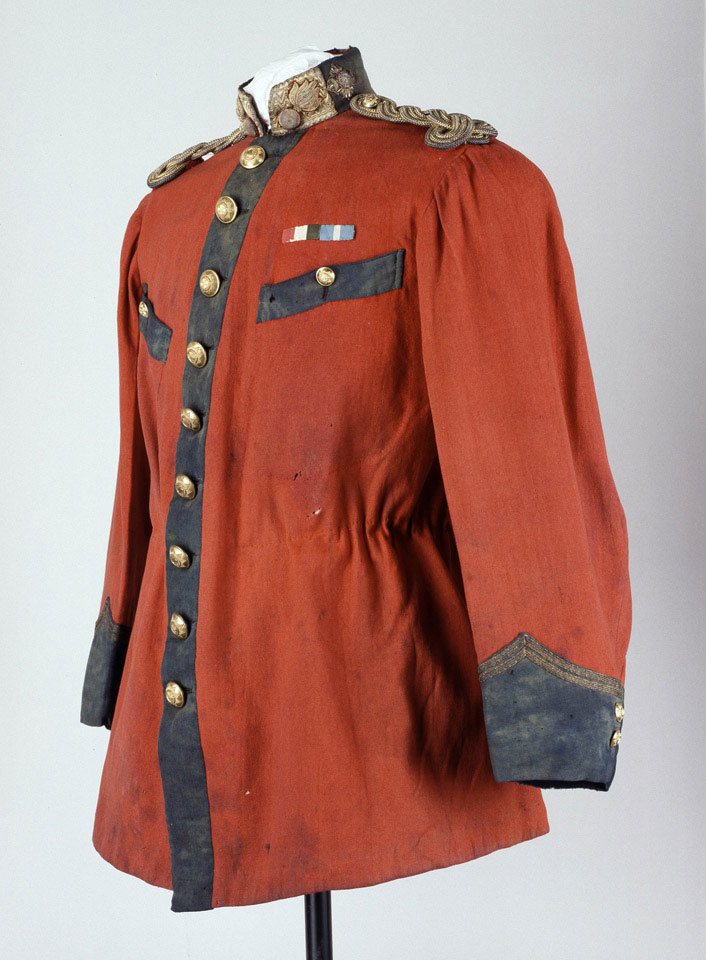 Officer's full dress tunic, worn by Lieutenant G S Smith, Brigata Voluntare Brittanici, Sicilian Irregulars, Garibaldi's Forces, 1860
