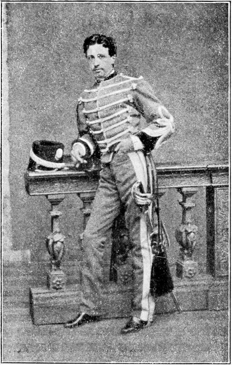 Giulio Brambilla in divisa del Reggimento Guide - 1866