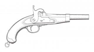 Pistola Ufficiale di Cavalleria - 1844