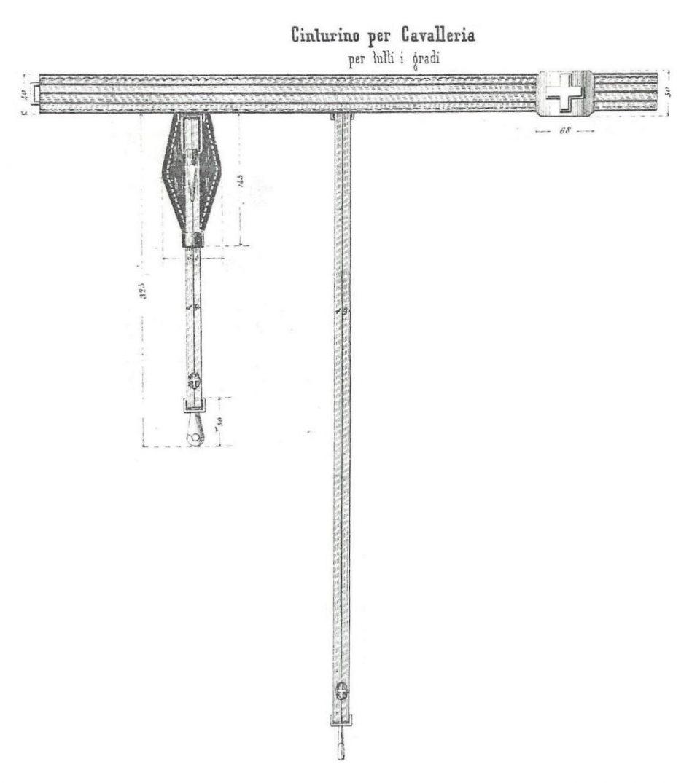 Cinturino per Cavalleria - 1856 - Tutti i gradi