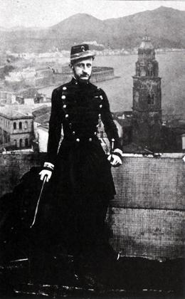 Assedio di Gaeta. Fotomontaggio di Francesco II
